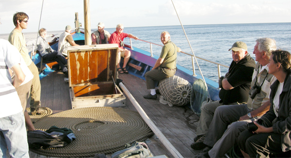 Birdfinders on the boat from Calheta